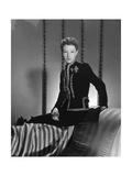 Mrs. Ronald Balcom (Aka Millicent Rogers) Wearing Black Velvet Schiaparelli Dinner Suit Photographic Print