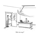 """Who's the temp"" - New Yorker Cartoon Premium Giclee Print by Tom Cheney"