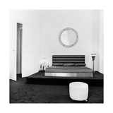 Art Deco Bedroom Furnishings in the Paris Apartment of Fashion Designer Karl Lagerfeld Regular Photographic Print