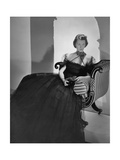 Mrs. John Jacob Astor (Formerly Ellen French) Wearing a Bare-Shouldered Bouffant-Skirted Gown Photographic Print