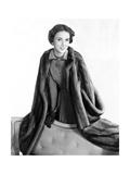 Mrs. Amory S. Carhart Jr. Wearing Mink Coat by Maximilian Photographic Print