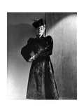 Model Helen Bennett Wearing Fitted Coat with High Collar and Leg-O-Mutton Sleeves Photographic Print