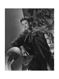 Mrs. Ronald Balcom Hat in Hand Photographic Print