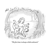 """The first time is always a little awkward."" - New Yorker Cartoon Premium Giclee Print by Tom Toro"
