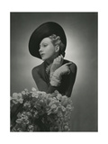 "Model Wearing a ""Brigand"" Hat by Reboux and Pin by Suzanne Belperron Regular Photographic Print"