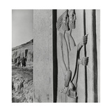 Bas-Relief of a Lance-Bearer and Incense Holder from Persepolis Photographic Print