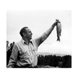 William Paley S. Holding a Fish Photographic Print