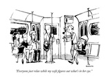 """Everyone just relax while my wife figures out what's in her eye."" - New Yorker Cartoon Giclee Print by Corey Pandolph"