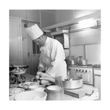 Georges, the Chef for Christian Dior Photographic Print