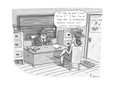 "'I'll take the case,' I said. Or did I I fear I'm no longer able to diffe"" - New Yorker Cartoon Regular Giclee Print by Zachary Kanin"