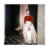 Model Holding Flowers Regular Photographic Print
