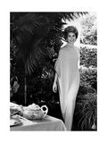 Socialite Betsy Bloomingdale (Mrs. Alfred Bloomingdale) Wearing a Long Flowing Turtleneck Dress Photographic Print