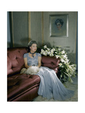 Mrs. Harrison Williams (Aka Mona Bismark) in Evening Gown Wearing Jewelry Photographic Print