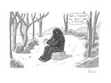 """And I thought she didn't know I existed!"" - New Yorker Cartoon Regular Giclee Print by Zachary Kanin"