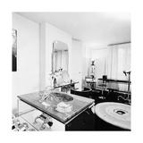 The Art Deco Bathroom in the Paris Apartment of Fashion Designer Karl Lagerfeld Regular Photographic Print