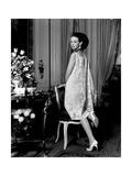 Mrs. Wyatt Cooper (Aka Gloria Vanderbilt) at Home Photographic Print