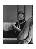 Mrs. Ronald Balcom (Aka Millicent Rogers) on Chaise Lounge Photographic Print