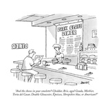 """And the cheese in your omelette Cheddar, Brie, aged Gouda, Morbier, Tort"" - New Yorker Cartoon Premium Giclee Print by Jack Ziegler"