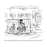 """I'm so overscheduled. If it weren't for timeouts, I'd have no free time a"" - New Yorker Cartoon Premium Giclee Print by Barbara Smaller"