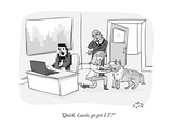 """Quick, Lassie, go get I.T.!"" - New Yorker Cartoon Premium Giclee Print by Farley Katz"