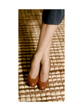 Brown Calfskin Opera Pumps by Mademoiselle Photographic Print