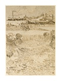 Arles: View from the Wheatfields Poster by Vincent van Gogh