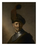 An Old Man in Military Costume Print by Rembrandt Harmensz van Rijn