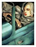 Tamara De Lempicka - Autoportrait (detail) Reprodukce