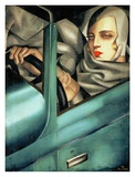 Autoportrait (detail) Prints by Tamara De Lempicka