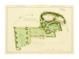 Ancient Garden and Modern Pleasure Garden: Plan, 1813 Print by Humphry Repton