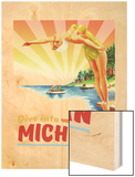 Michigan Wood Print
