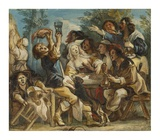 A Merry Company Poster by Jacob Jordaens