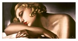 Dormeuse (detail) Prints by Tamara De Lempicka