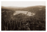 Dams and Lake, Nevada County, California, Distant View, about 1871 Prints by Carleton Watkins