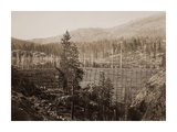 Dam and Lake, Nevada County, California, Near View, about 1871 Print by Carleton Watkins