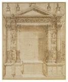 Design for an Altar, ca. 1527 Plakater af Baldassare Peruzzi