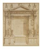 Design for an Altar, ca. 1527 Posters af Baldassare Peruzzi