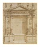 Design for an Altar, ca. 1527 Posters by Baldassare Peruzzi