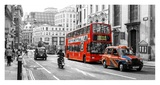 Buses and Cabs in a London Street Prints by Massimo Borchi