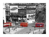 Buses in Piccadilly Circus Print by Pawel Libera