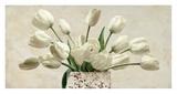 Bouquet blanc Print by Leonardo Sanna