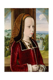 Portrait of Margaret of Austria, c.1490 Giclee Print by  Master of Moulins