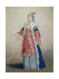 Frankish Woman from Pera, Constantinople, 1738-43 Giclee Print by Jean-Etienne Liotard