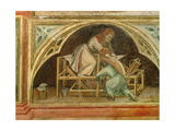 The Knife Grinder, from 'The Working World' cycle after Giotto, c.1450 Giclee Print by Nicolo & Stefano Da Ferrara Miretto