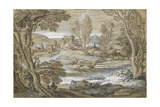 Classical Landscape Giclee Print by Adrian Van Der Cabel