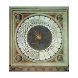 Canonical Clock with the Heads of Four Prophets, Completed 1443 Giclée-tryk af Paolo Uccello