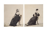 Two Portraits of Widows, 1837 Giclee Print by Richard Dighton