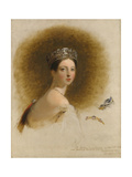 Portrait of Queen Victoria, 1838 Giclee Print by Thomas Sully