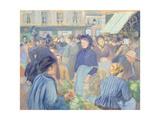 Le Marche de Gisors, 1889 Reproduction procédé giclée par Camille Pissarro