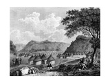 View of Kamalia Village from 'Travels in the Interior Districts of Africa', 1799 Giclee Print by Mungo Park